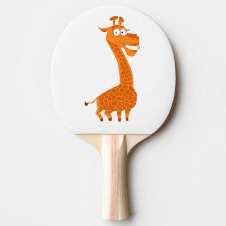 Crazy giraffe ping pong paddle