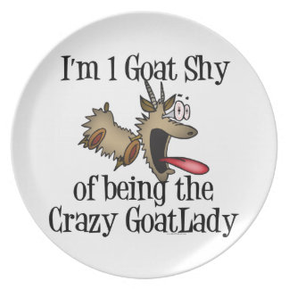 Crazy Goat Lady GetYerGoat Plate