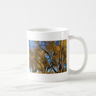 Crazy Golden Tree Sky Coffee Mugs
