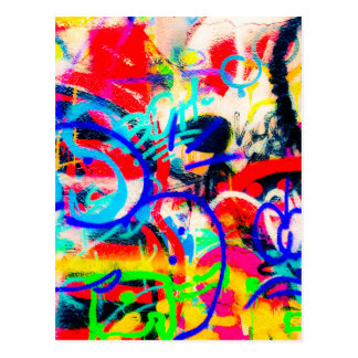 Crazy Graffiti Postcard