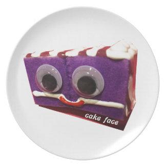 crazy grapes cake face with logo dinner plates