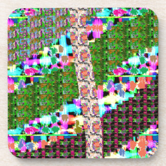 CRAZY Graphic Wave Patchwork Art GIFTS n Greetings Beverage Coasters