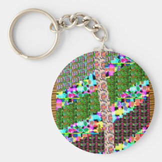 CRAZY Graphic Wave Patchwork Art GIFTS n Greetings Keychains