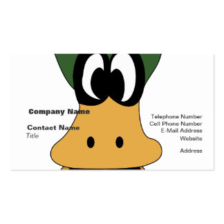 Crazy Green Cartoon Duck Different Reality Pack Of Standard Business Cards
