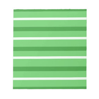 Crazy Green Stripes Notepad