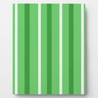 Crazy Green Stripes Plaque