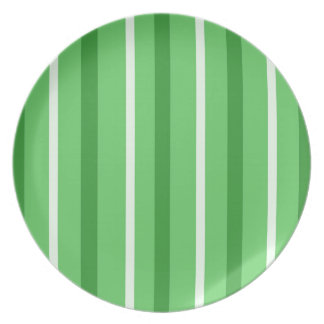 Crazy Green Stripes Plate