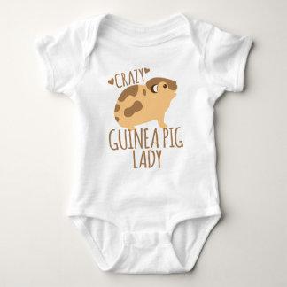 crazy guinea pig lady baby bodysuit