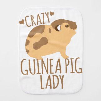 crazy guinea pig lady burp cloth