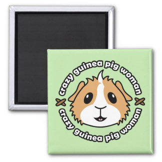 Crazy Guinea Pig Woman Fridge Magnet