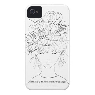 Crazy Hair, Don't Care iPhone 4 Case