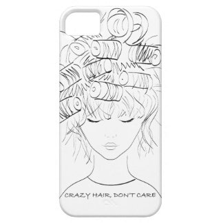 Crazy Hair, Don't Care iPhone 5 Case