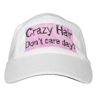 Crazy Hair Pink White Hat