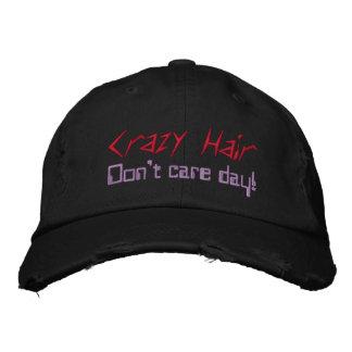 Crazy Hair Red Purple Black Caps