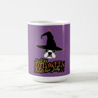 Crazy Halloween Frenchie Lady French Bulldog Mom Magic Mug