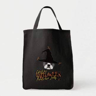 Crazy Halloween Frenchie Lady French Bulldog Mom Tote Bag