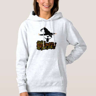 Crazy Halloween Pit Bull Lady Pit Bull Mom Hoodie