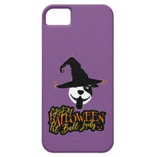 Crazy Halloween Pit Bull Lady Pit Bull Mom iPhone 5 Cases