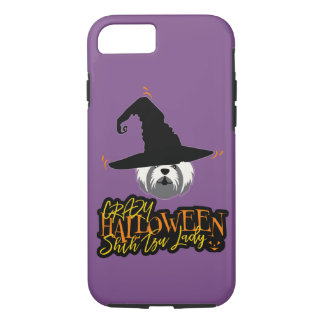 Crazy Halloween Shih Tzu Lady Shih Tzu Mom iPhone 8/7 Case