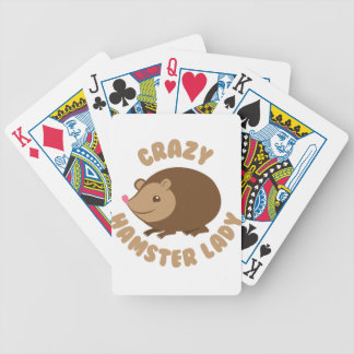 crazy hamster lady bicycle playing cards