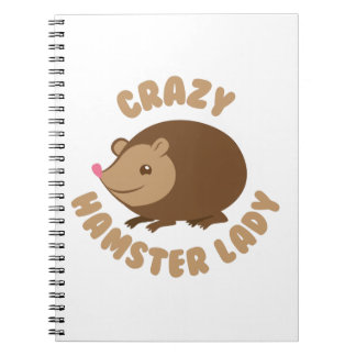 crazy hamster lady notebook