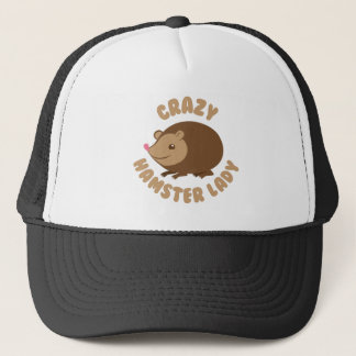 crazy hamster lady trucker hat