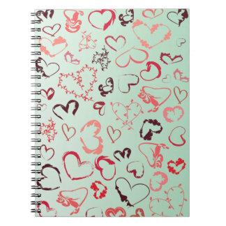 Crazy heart notebooks