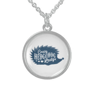 Crazy Hedgehog Lady Sterling Silver Necklace