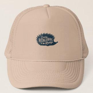 Crazy Hedgehog Lady Trucker Hat
