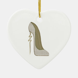 Crazy Heel Lace Stiletto Shoe Art Ceramic Heart Decoration