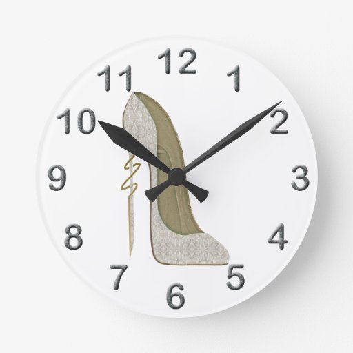 Crazy Heel Lace Stiletto Shoe Art Clock