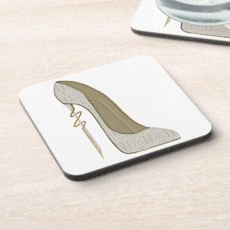 Crazy Heel Lace Stiletto Shoe Art Coaster