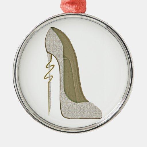 Crazy Heel Lace Stiletto Shoe Art Ornament