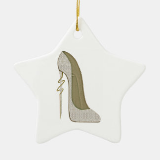Crazy Heel Lace Stiletto Shoe Art Christmas Tree Ornaments