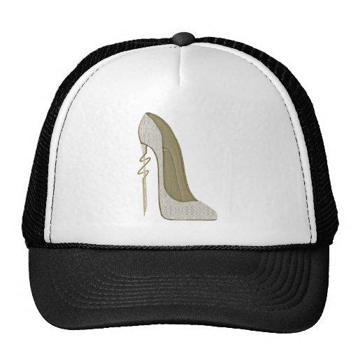 Crazy Heel Lace Stiletto Shoe Art Trucker Hats