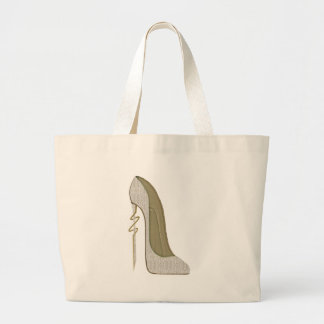 Crazy Heel Lace Stiletto Shoe Art Jumbo Tote Bag