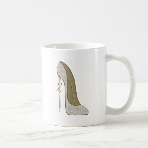 Crazy Heel Lace Stiletto Shoe Art Mugs