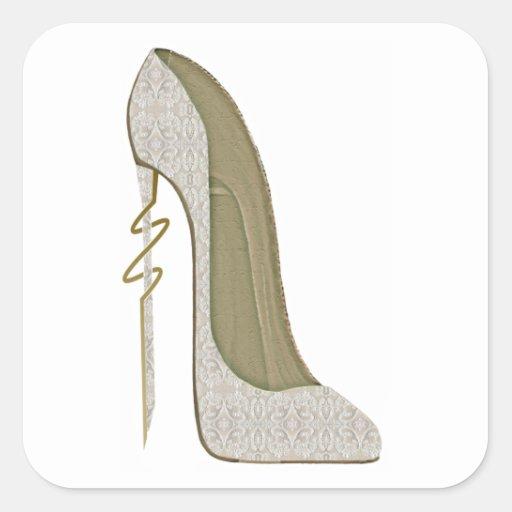 Crazy Heel Lace Stiletto Shoe Art Stickers
