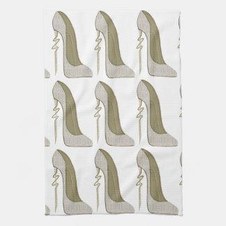 Crazy Heel Lace Stiletto Shoe Art Tea Towels