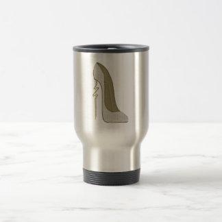 Crazy Heel Lace Stiletto Shoe Art Travel Mug