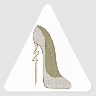 Crazy Heel Lace Stiletto Shoe Art Triangle Sticker