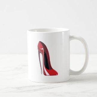 Crazy heel red stiletto shoe art basic white mug