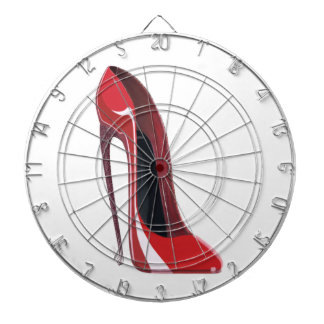 Crazy heel red stiletto shoe art dartboards