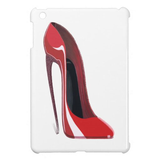 Crazy heel red stiletto shoe art cover for iPad mini