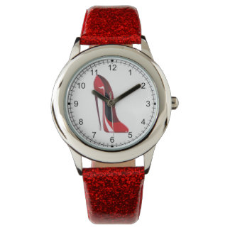 Crazy Heel Red Stiletto Shoe Art Watch
