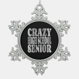 Crazy High School Senior in Silver Pewter Snowflake Decoration