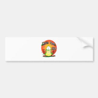 Crazy Hippie Frog Bumper Stickers