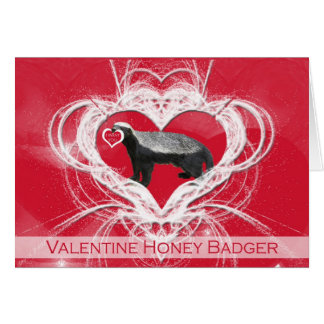 Crazy Honey Badger Valentine s Day Card