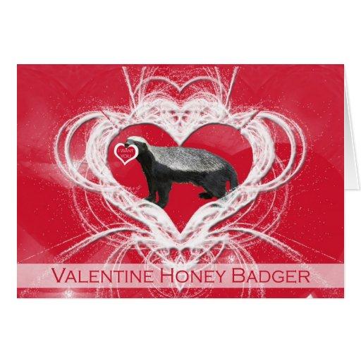 Crazy Honey Badger Valentine's Day Card