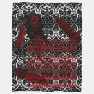 CRAZY HORSE BIBLIOGRAPHY FLEECE BLANKET